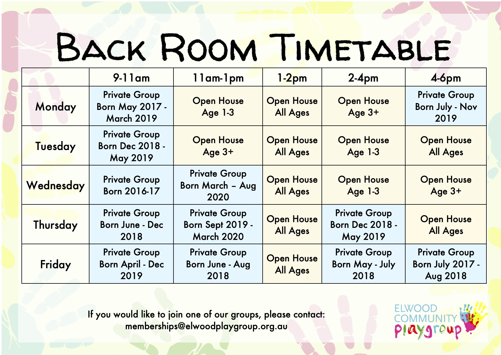Back Room Timetable1